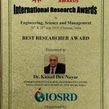 InternationalResearchAwardsDrKDNayar