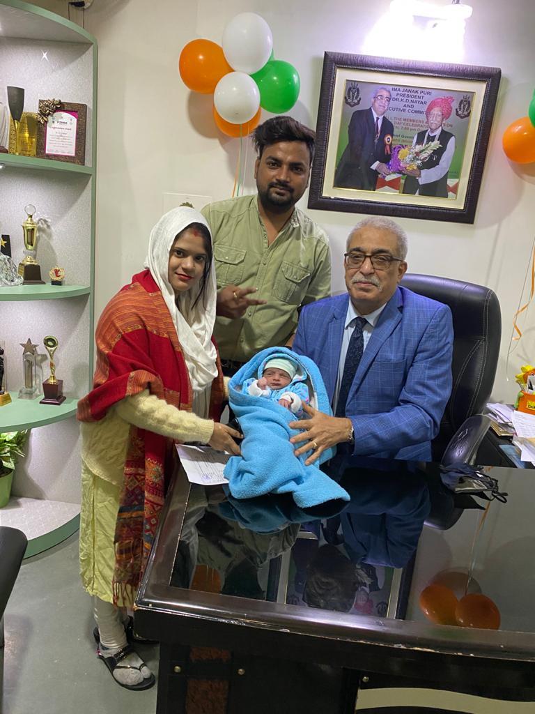 Born on 25th Jan 2021, Dr. K. D. Nayar
